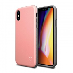 iPhone X Case  Patchwork Level ITG Series Case Pink