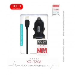 Lightning USB Fast Car Charger Set | Dual USB | XO