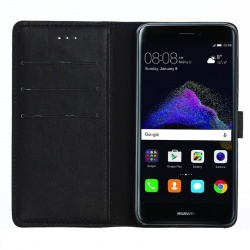 Huawei P8 Lite(2017) PU Leather Wallet Case  Black