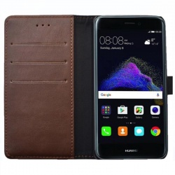 Huawei P8 Lite(2017) PU Leather Wallet Case  Brown