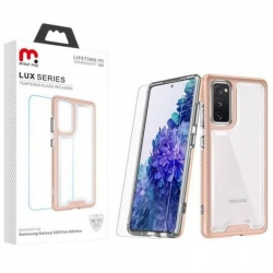 ​Samsung Galaxy S20 FE LUX SERIES CASE WITH TEMPERED GLASS | Rosegold