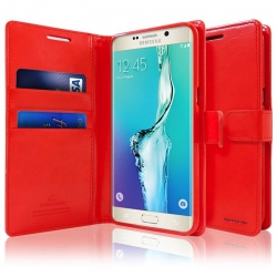 Samsung Galaxy S6 Edge Bluemoon  Wallet Case Red