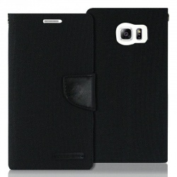 Samsung Galaxy S6 Edge Canvas Wallet Case  Black