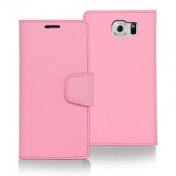 Samsung Galaxy S6 Edge Sonata Wallet Case   Pink