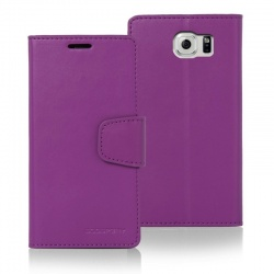 Samsung Galaxy S6 Edge Sonata Wallet Case   Purple