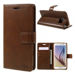 Samsung Galaxy S6 Bluemoon Wallet Case Brown