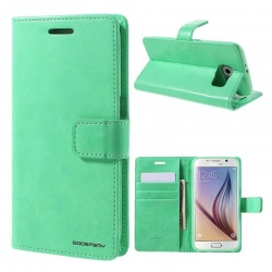 Samsung Galaxy S6 Bluemoon Wallet Case Mint