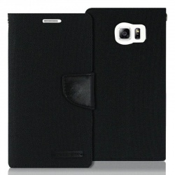 Samsung Galaxy S6 Canvas Wallet Case  Black