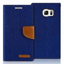 Samsung Galaxy S6 Canvas Wallet Case  Blue