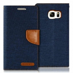 Samsung Galaxy S6 Canvas Wallet Case  Denim