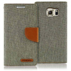 Samsung Galaxy S6 Canvas Wallet Case  Grey
