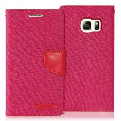 Samsung Galaxy S6 Canvas Wallet Case  Pink