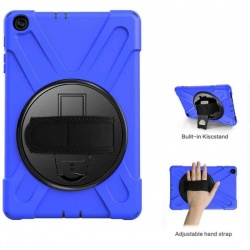 Samsung Galaxy Tab A Case 10.1(2019) SM-T510 Shockproof Cover With Starp Holder| Blue