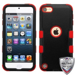 iPod Touch (5th/6th Generation) MYBAT Natural TUFF Hybrid Protector Cover Black/Red
