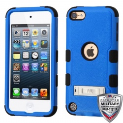 iPod Touch (6th Generation) MYBAT Natural TUFF Hybrid Protector Cover Blue (With Stand)