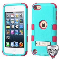 iPod Touch (6th Generation) MYBAT Natural TUFF Hybrid Protector Cover Turquoise (With Stand)