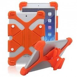 Universal Tablet 7''-8'' Shockproof Soft Gel Back Case Cover Orange