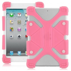 Universal Tablet 7''-8'' Shockproof Soft Gel Back Case Cover Pink