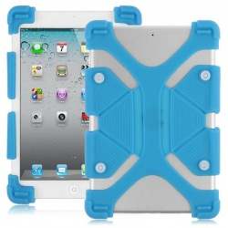 Universal Tablet 8.9''-12'' Shockproof Soft Gel Back Case Cover Blue