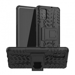 Samsung Galaxy A71 Case - Black Tyre Defender