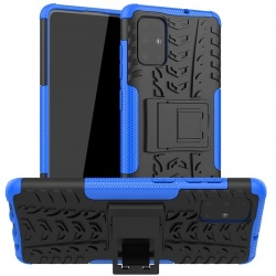 Samsung Galaxy A71 Case - Blue Tyre Defender