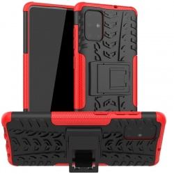 Samsung Galaxy A71 Case - Red Tyre Defender