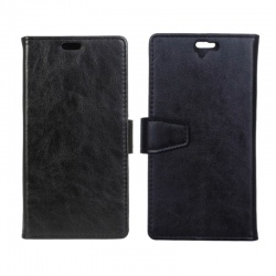 HTC One A9 PU Leather Wallet Case Black
