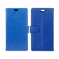 HTC One A9 PU Leather Wallet Case Blue