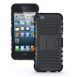 iPod Touch (5th/6th Generation)  Hybrid Protector Stand Cover Black/Black