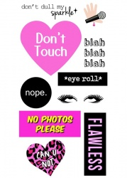 Don't Touch Sticker Tags | IDecoz