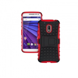 Motorola G4 Play Tyre Defender Cover Red