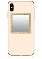 Gold Square Crystals Phone Mirror | iDecoz