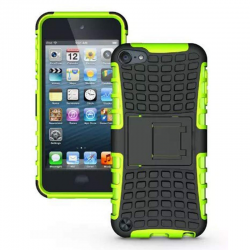 iPod Touch (5th/6th Generation)  Hybrid Protector Stand Cover Black/Green