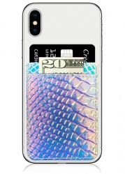 Hologram Snake Skin Leather Phone Pocket | iDecoz