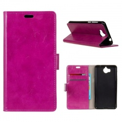 Huawei Y6(2017) PU Leather Wallet Case Purple