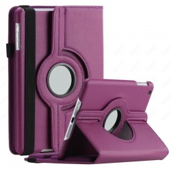 iPad Mini 1/2/3 - 360 Rotating Case Purple