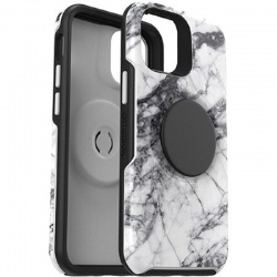 iPhone 12 Mini  OtterBox Pop Symmetry Series Case Black Marble Graphic