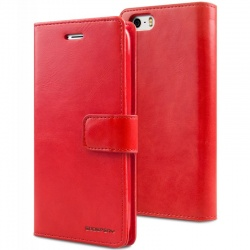 iPhone SE/5S/5 Bluemoon Wallet Case Red