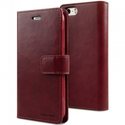 iPhone SE/5S/5 Bluemoon Wallet Case Wine Red