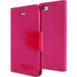 iPhone SE/5S/5 Canvas Wallet Case  Pink