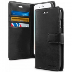 iPhone 7 / iPhone 8 Case Bluemoon Wallet- Black