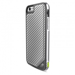 iPhone 6/6s X-Doria Defense LUX Silver Carbon