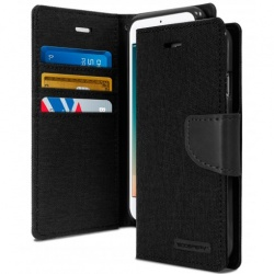 iPhone 7/8 Plus Canvas Wallet Case  Black