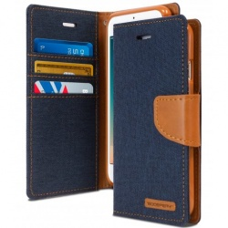 iPhone 7/8 Plus Canvas Wallet Case  Denim