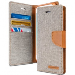 iPhone 7/8 Plus Canvas Wallet Case  Grey