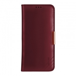 iPhone 11 Genuine Leather Wallet Case Red