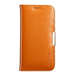 iPhone 11 Genuine Leather Wallet Case Brown