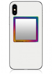 Iridescent Square Phone Mirror | iDecoz