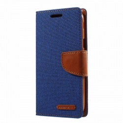 Samsung Galaxy J5(2017)  Canvas Wallet Case  Blue