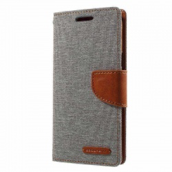 Samsung Galaxy J5(2017)  Canvas Wallet Case  Grey